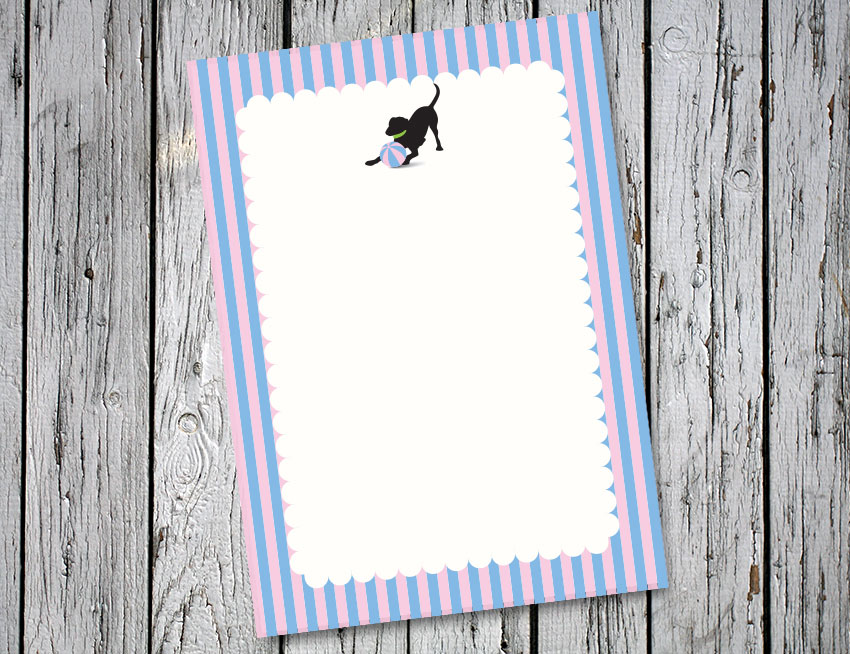 Blue and Pink Stripes Vertical