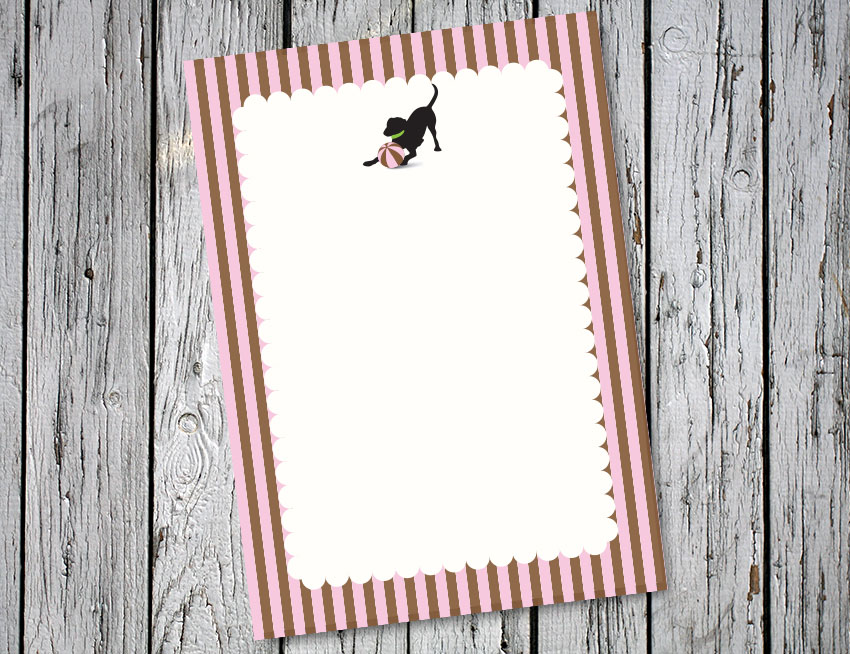 Pink and Brown Stripes Vertical
