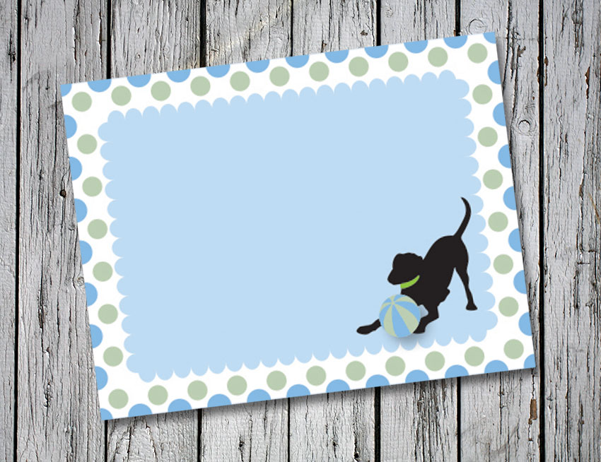 Blue and Green Circle Thank You Notes