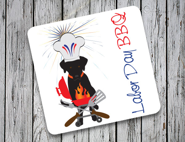 Labor Day BBQ Coasters