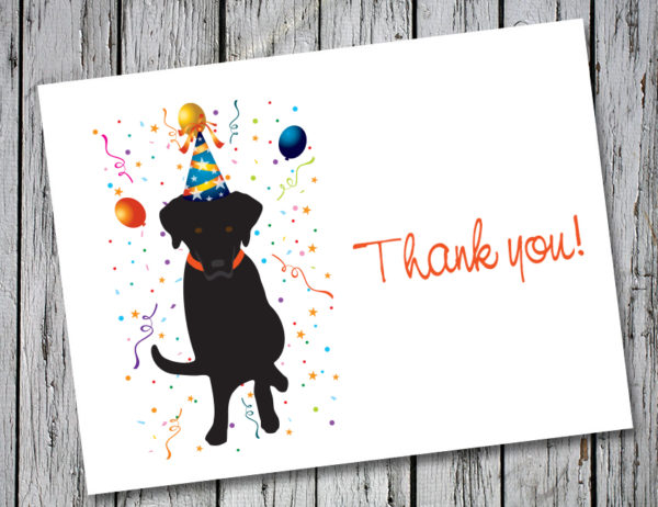 Drake Speaks Black Lab Thank You Card