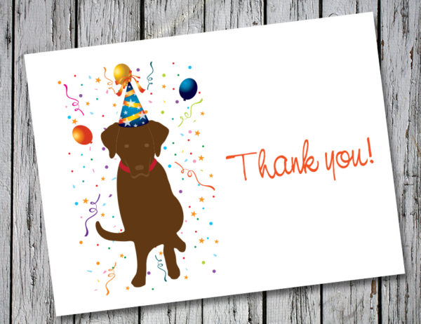 Drake Speaks Chocolate Lab Thank You Card