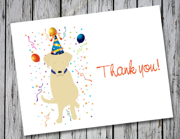 Drake Speaks Yellow Lab Thank You Card