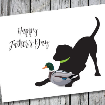 Baby Hank's Black Lab Father's Day Card