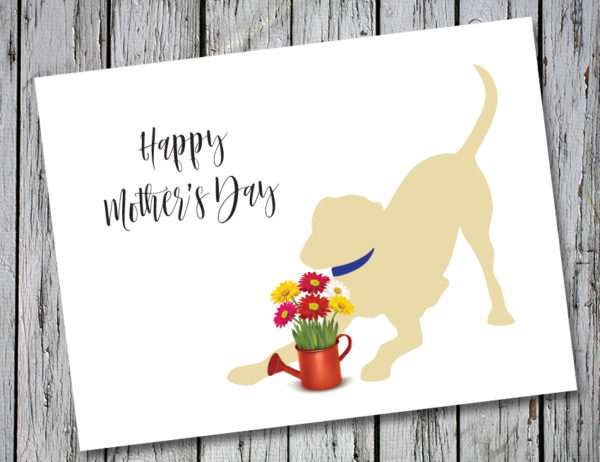 Baby Hank's Yellow Labrador Happy Mother's Day Card